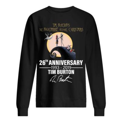 tim burtons the nightmare before christmas 26th university shirt unisex sweatshirt jet black front 400x400 - Tim Burton's the Nightmare before Christmas 26th university shirt