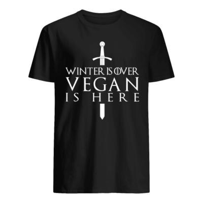 winter is over vegan is here shirt men s t shirt black front 400x400 - Winter is over vegan is here shirt