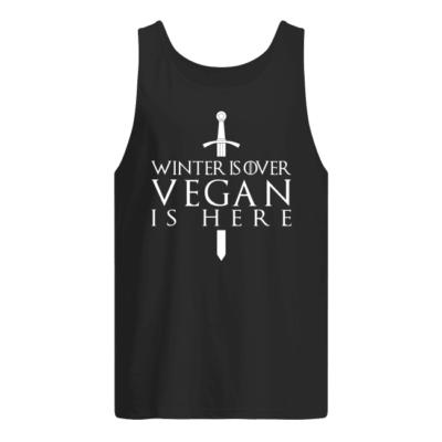 winter is over vegan is here shirt men s tank top black front 400x400 - Winter is over vegan is here shirt