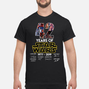 42 years of star wars 1977 2019 shirt men s t shirt black front 1 300x300 - 42 Years of Star wars 1977 – 2019 shirt