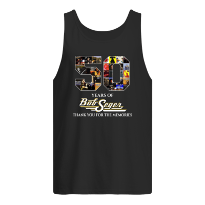 50 years of bob seger thank you for the memorie shirt men s tank top black front 400x400 - 50 years of Bob Seger thank you for the memories shirt