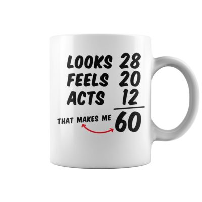 Looks feels acts 60 mug 400x400 - Looks feels acts 60 mug