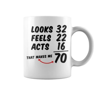 Looks feels acts 70 mug 400x400 - Looks feels acts 70 mug