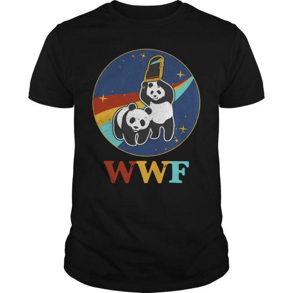 WWF panda Wrestling NASA 600x600 - WWF panda Wrestling NASA shirt