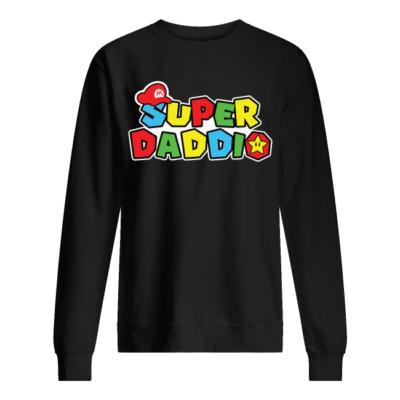 super daddio shirt hoodie unisex sweatshirt jet black front 400x400 - Super daddio shirt, hoodie
