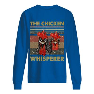 the chicken whisperer shirt unisex sweatshirt royal front 400x400 - The Chicken Whisperer shirt