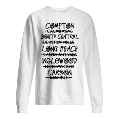 the real los angeles shirt hoodie unisex sweatshirt arctic white front 400x400 - The real Los Angeles shirt