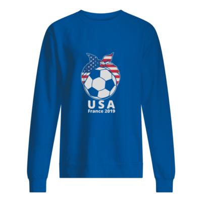 women usa soccer france 2019 shirt unisex sweatshirt royal front 400x400 - Women USA Soccer France 2019 shirt