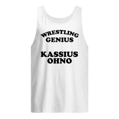 wrestling genius kassius ohnos shirt men s tank top white front 400x400 - Wrestling Genius Kassius Ohno shirt