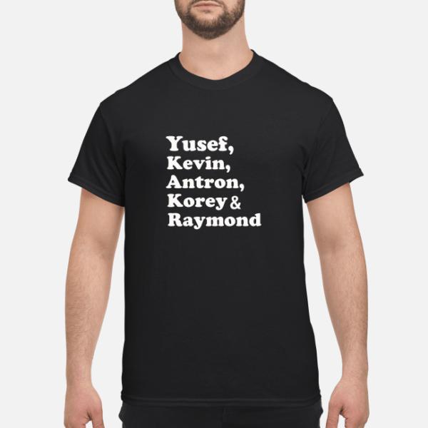 yusef kenvin antron korey raymond shirt men s t shirt black front 1 600x600 - Yusef Kenvin Antron Korey Raymond shirt