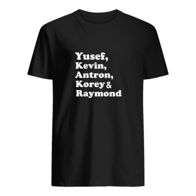 yusef kenvin antron korey raymond shirt men s t shirt black front 400x400 - Yusef Kenvin Antron Korey Raymond shirt