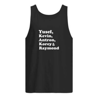 yusef kenvin antron korey raymond shirt men s tank top black front 400x400 - Yusef Kenvin Antron Korey Raymond shirt