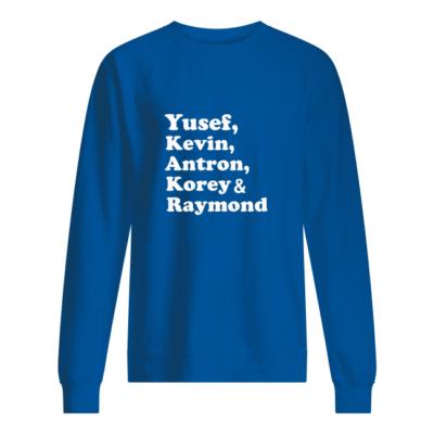 yusef kenvin antron korey raymond shirt unisex sweatshirt royal front 400x400 - Yusef Kenvin Antron Korey Raymond shirt