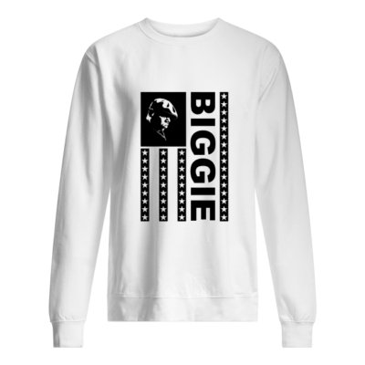 the notorious big biggie flag shirt unisex sweatshirt arctic white front 400x400 - The Notorious B.I.G. Biggie flag shirt