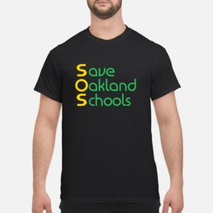 save oakland schools t shirt men s t shirt black front 1 300x300 - Save Oakland Schools T shirt