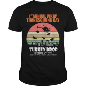 1st annual WKRP thanks giving day Turkey Dropshirt 300x300 - 1st Annual WKRP thanksgiving day Turkey Drop shirt