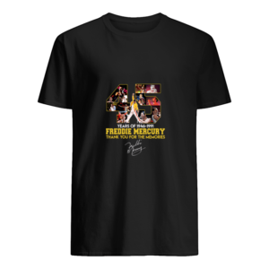 45 years of freddie mercurt shirt men s t shirt black front Copy 300x300 - 45 Years of Freddie Mercury shirt