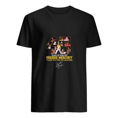 45 years of freddie mercurt shirt men s t shirt black front Copy 400x400 - 45 Years of Freddie Mercury shirt