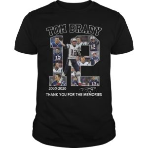 tom brady thank you for the memories shirt 300x300 - 12 Tom Brady 2000-2020 thank you for the memories shirt