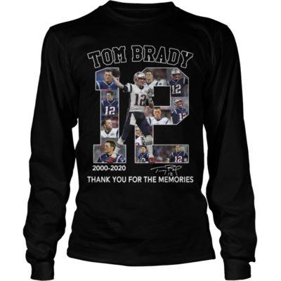 tom brady thank you for the memories shirtvvvv 400x400 - 12 Tom Brady 2000-2020 thank you for the memories shirt