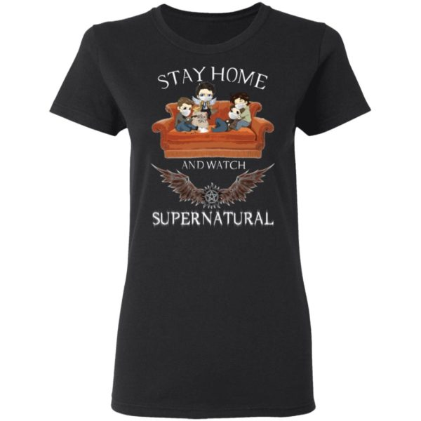 redirect 316 600x600 - Stay home and  watch Supernatural shirt