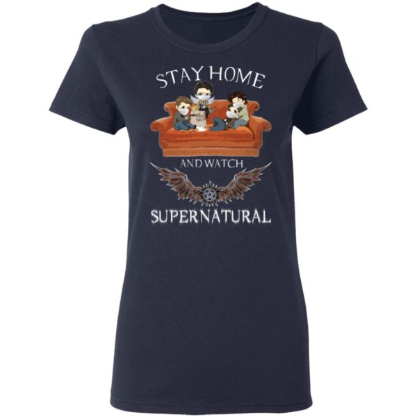 redirect 317 600x600 - Stay home and  watch Supernatural shirt