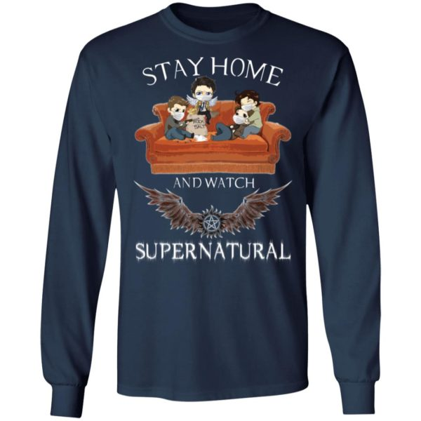 redirect 319 600x600 - Stay home and  watch Supernatural shirt