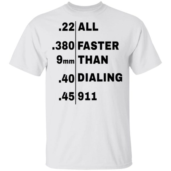 redirect 100 600x600 - All faster than dialing 911 shirt