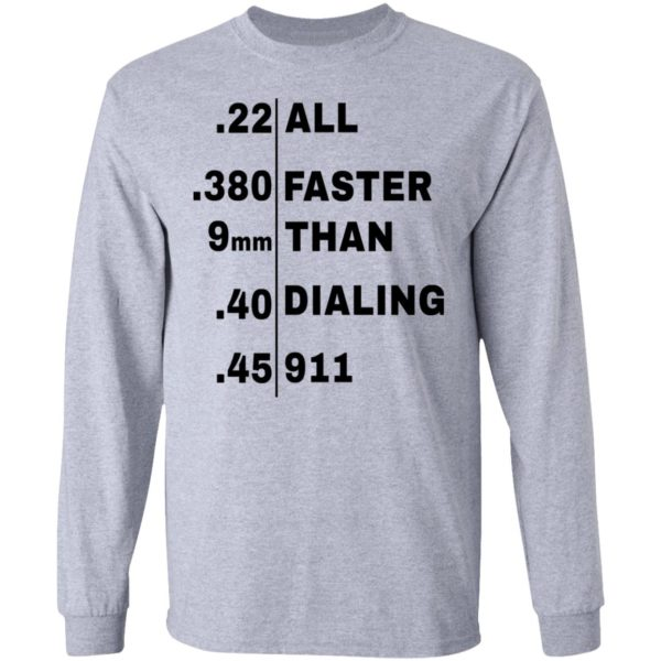 redirect 104 600x600 - All faster than dialing 911 shirt