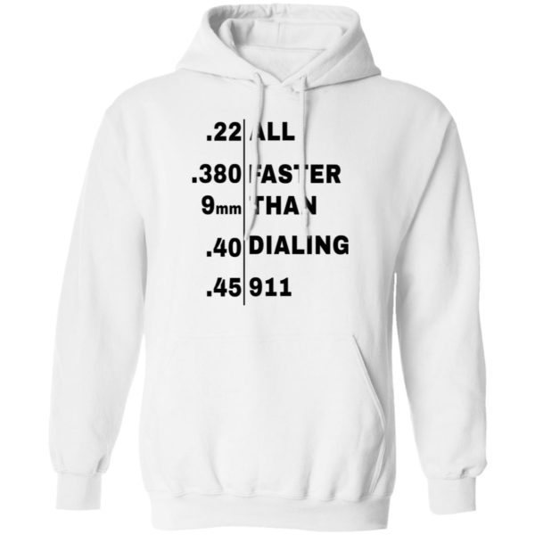 redirect 107 600x600 - All faster than dialing 911 shirt