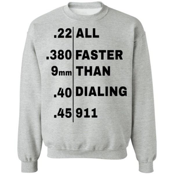 redirect 108 600x600 - All faster than dialing 911 shirt