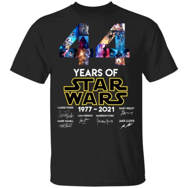 redirect 1320 600x600 - 44 years of Star Wars 1977-2021 signature shirt