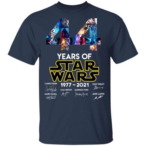 redirect 1321 600x600 - 44 years of Star Wars 1977-2021 signature shirt