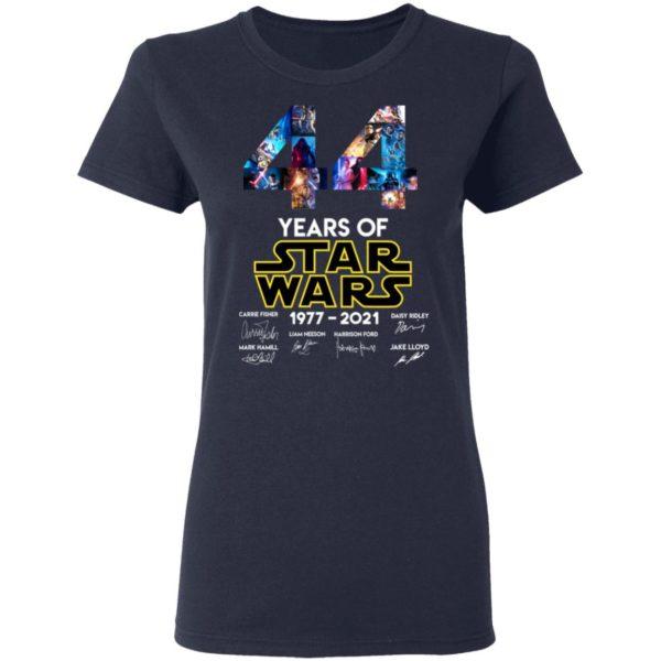 redirect 1323 600x600 - 44 years of Star Wars 1977-2021 signature shirt