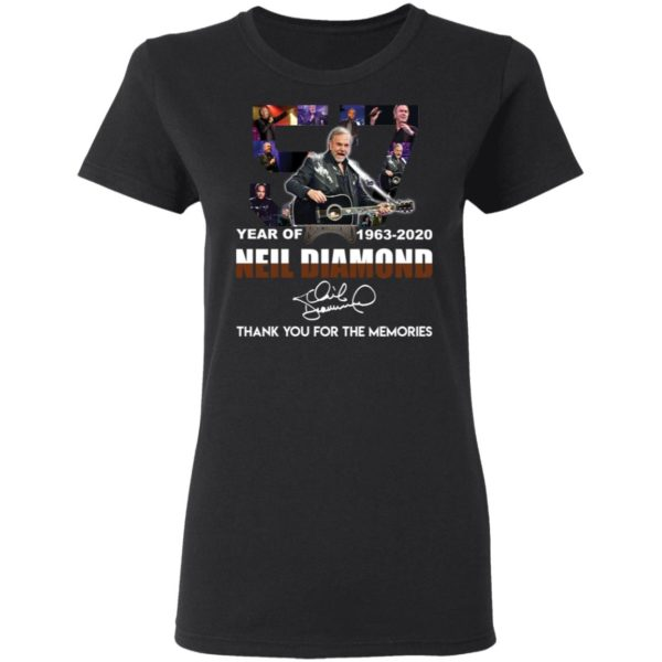 redirect 2531 600x600 - 57 year of 1963-2020 Neil Diamond thank you for the memories shirt