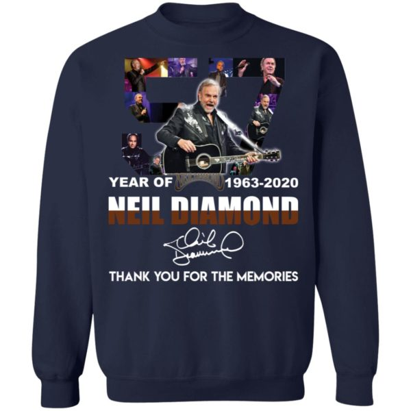 redirect 2538 600x600 - 57 year of 1963-2020 Neil Diamond thank you for the memories shirt