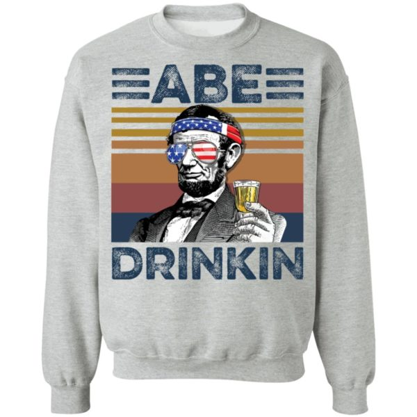redirect 2987 600x600 - Abraham Lincoln ABE Drinkin 4th of July Independence shirt