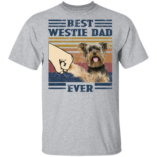 redirect 3245 600x600 - Yorkshire Terrier best westie dad ever vintage shirt