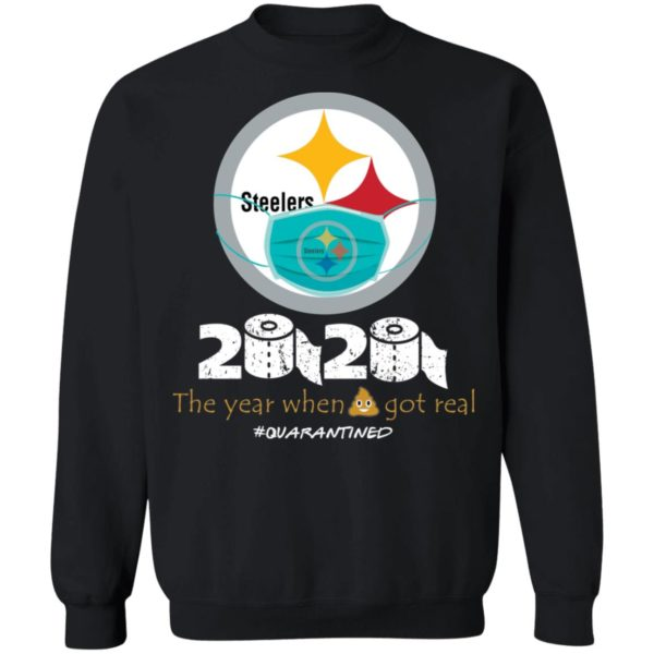 redirect 658 600x600 - Steelers 2020 the year when shit got real quarantined shirt