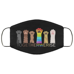 redirect 139 300x300 - Together we rise purride rainbow cat LGBT face mask