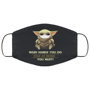 redirect 15 300x300 - Baby Yoda wash hands you do stay at home you must face mask washable