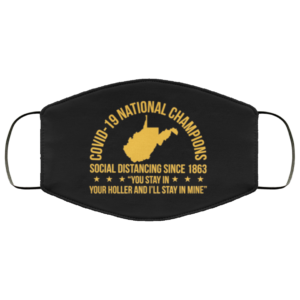 redirect 151 300x300 - West Virginia Covid-19 Nation Champions Social Distancing Since 1863 face mask
