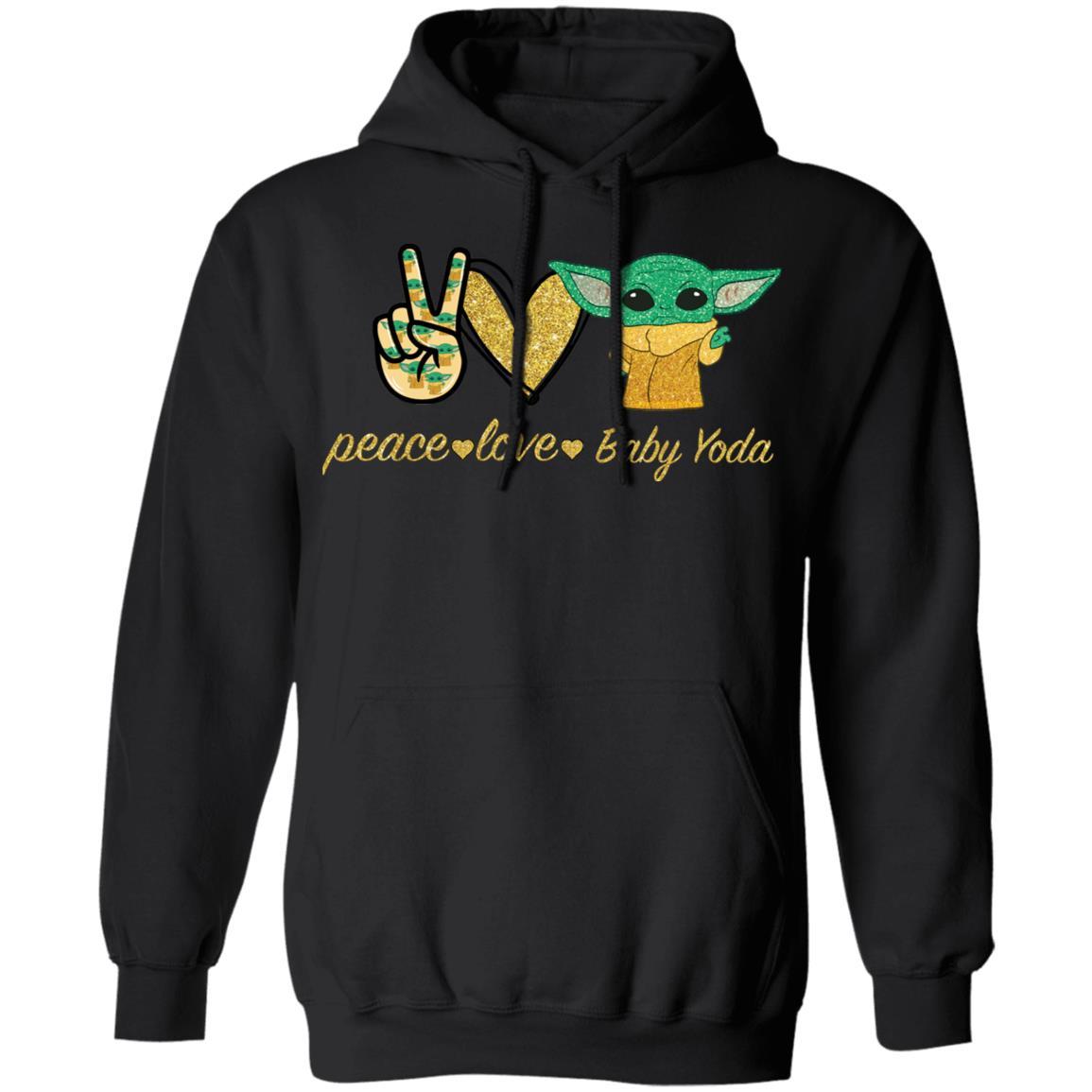 Peace Love Baby Yoda Shirt