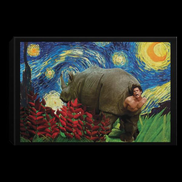 redirect 175 600x600 - Rhino Scene Ace Ventura Starry Night poster, canvas