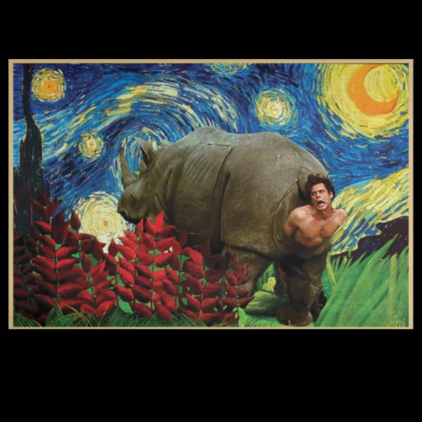 redirect 178 600x600 - Rhino Scene Ace Ventura Starry Night poster, canvas