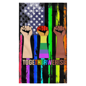 redirect 181 300x300 - Together We Rise Pride wall flag