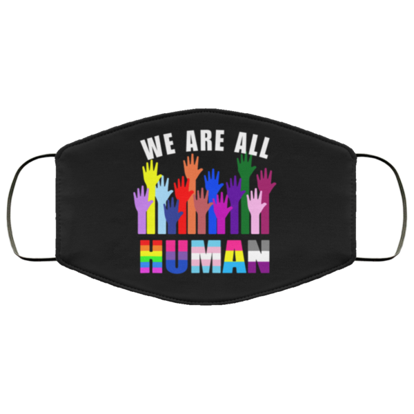 redirect 188 600x600 - We are all human LGBT face mask Reusable, Washable