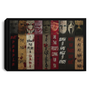 redirect 211 300x300 - Horror movie character quotes poster, canvas