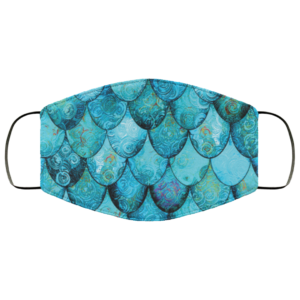 redirect 46 300x300 - Aqua Turquoise Mermaid face mask Reusable, Washable