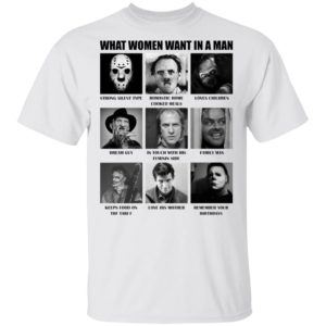 redirect 480 300x300 - What women want in the man killer chart Halloween shirt